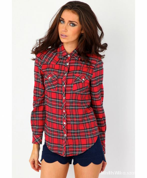 Ubrania Poszukiwana koszula w szkocką kratkę tartan