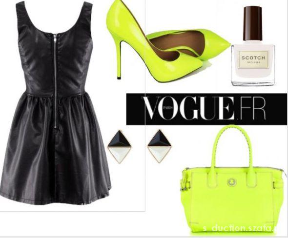 Eleganckie Black&Neon