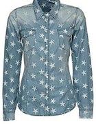 jeansowa koszula w gwiazki...