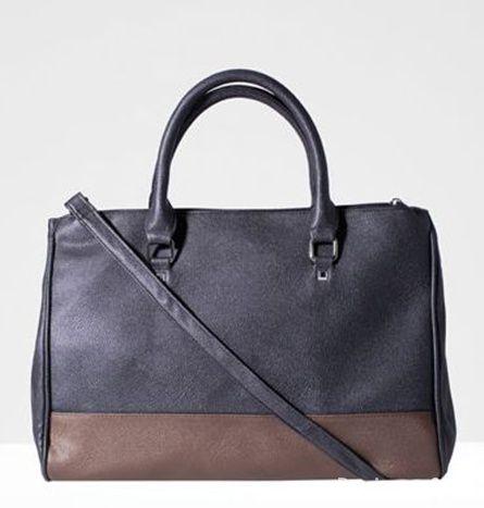 stradivarius shopper bag brown XL