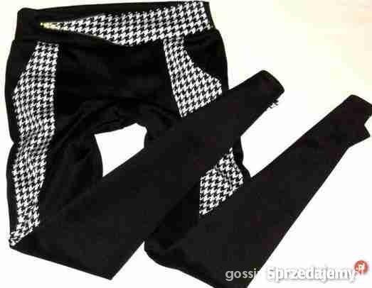 Spodnie rurki pepitka jodelka pilnie poszukiwane