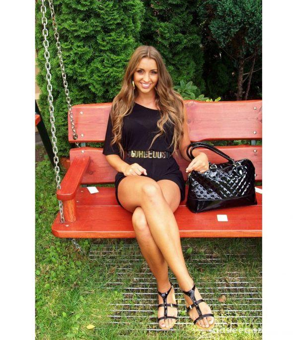 Blogerek Czerń plus złoto