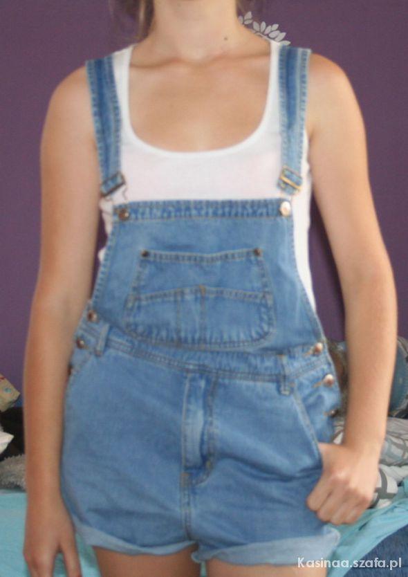Kombinezony ogrodniczki jeansowe jeans S M