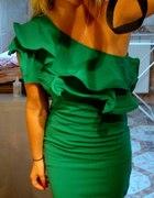 zielona sukienka na wesele...