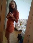 ceglasta sukienka