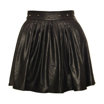 Spódnice Skórzana spódnica z ćwiekami