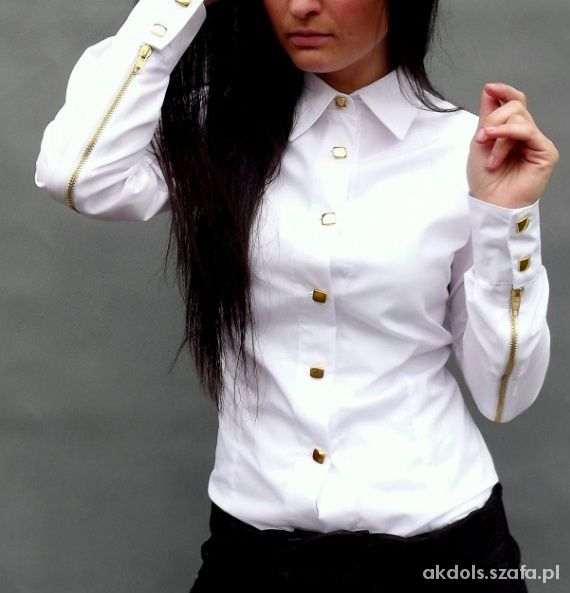 Koszula ragazza złote zamki i guziki 34