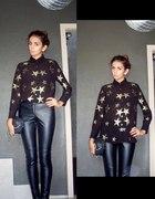 Koszula w gwiazdy & skórzane spodnie...