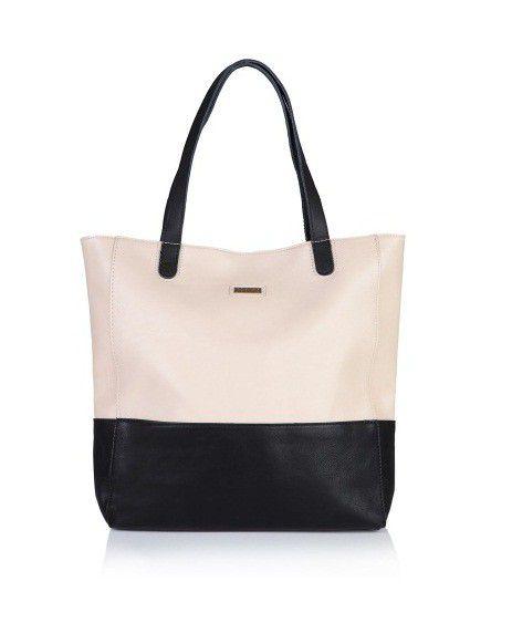 Pojemna dwukolorowa torba firmy MOHITO