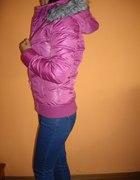 Kurtka zimowa z liskiem kurtka różowa