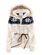 H&M sweter futrzak kaptur 36 S NOWY TANIO