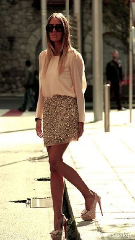 Spódnice gold skirt s