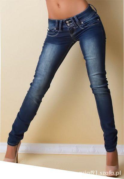 c25acc8578ba2a rurki ciemne sexowne push up jeansy S w Spodnie - Szafa.pl