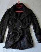 TopShop Płaszcz 3810 w kratę M