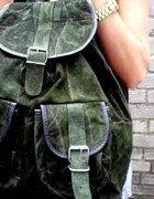 plecak vintage zielony