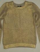 złoty sweter H&M używany rozmiar 34 XS