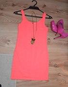neonowa sukienka bershka
