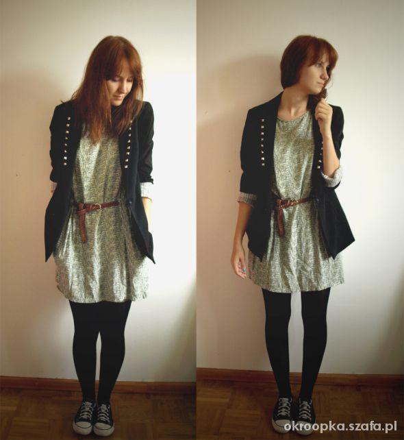 Mój styl green dress