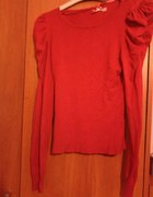 Czerwona bluzka z bufkami Atmosphere