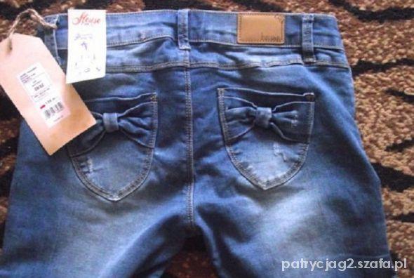 jeansy rurki House kokardki świetne