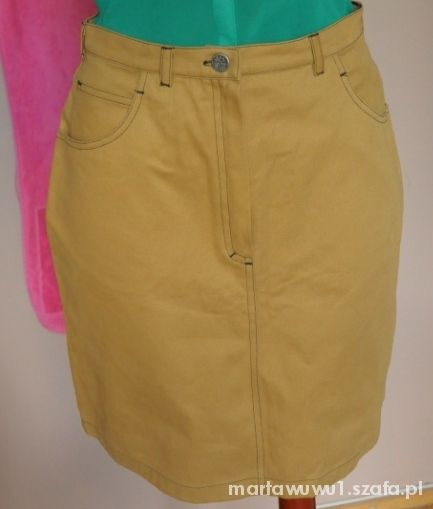 Spódnice L NOWA spódnica jeansowa kremowa wysoki stan