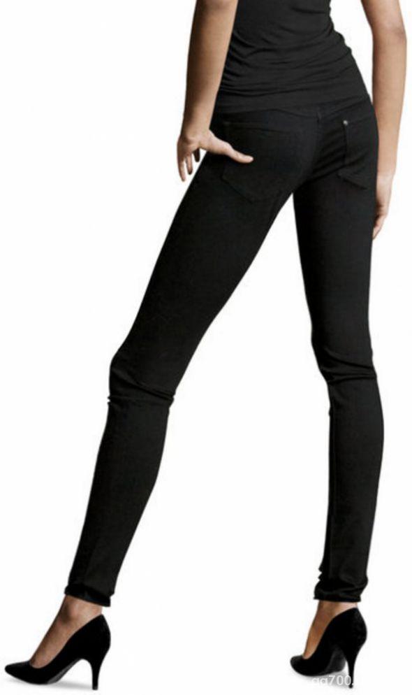 Czarne spodnie HM super skinny NOWE w Spodnie Szafa.pl
