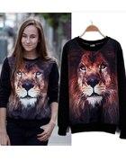 bluza z lwem czarna