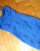 Kobaltowa bandażowa sukienka ATMOSPHERE r 38