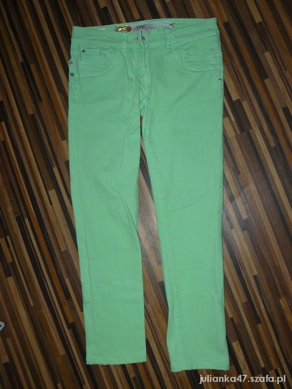 Spodnie miętowe 36