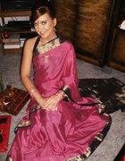 Różowo złote sari...
