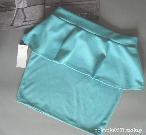 Spódnice miętowa baskinka