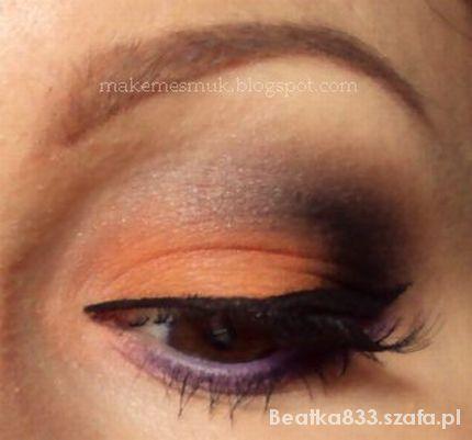 makijaż z pomarańczką...
