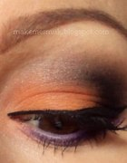 makijaż z pomarańczką