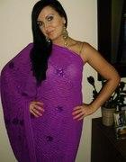 Wrzosowe sari