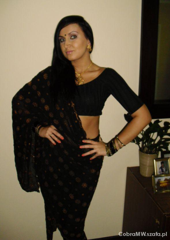 Mój styl Czarne sari