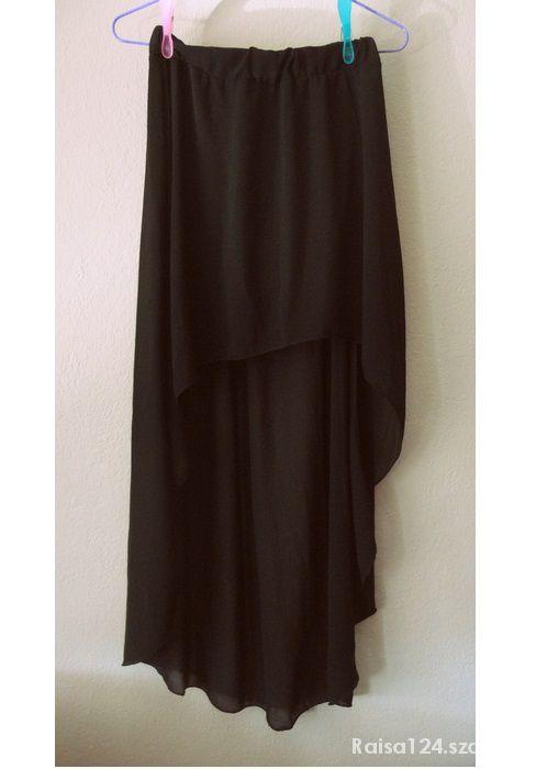 Spódnice Asymetryczna spódnica czarna