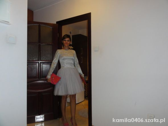 metaliczna sukienkatiul