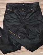 H&M spodnie woskowane zip suwaki KUPIE
