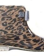 Kalosze leopard kokardka