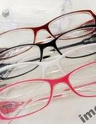 Okulary damskie antyrefleks zerówki białe