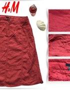 Spódnica Lniana Czerwona H&M 38...