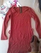 Ruda jesienna sukienka