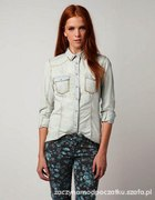 koszula jeansowa ćwieki bershka M