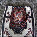 barokowa wzorzysta print spódniczka etno aztec