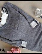 Grafitowy sweter melanż