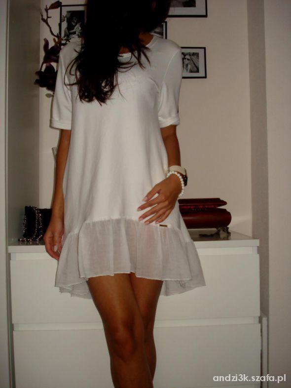 Eleganckie Sukienka biała jak Siwiec