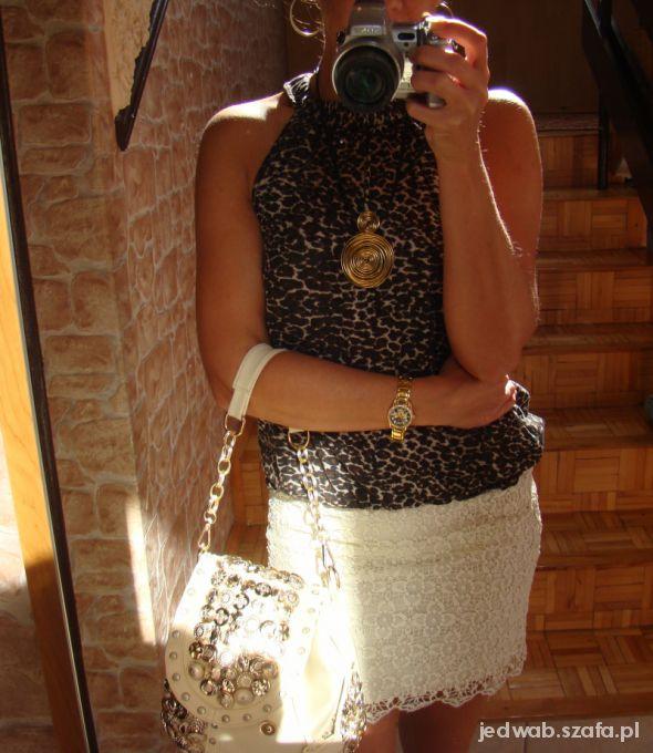 Mój styl Koronka i cętki