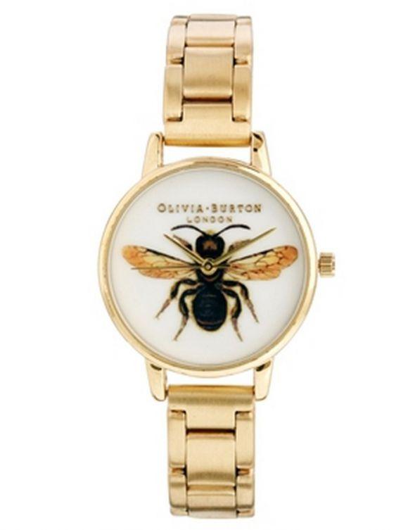Biżuteria Olivia Burton złoty zegarek gold na rękę