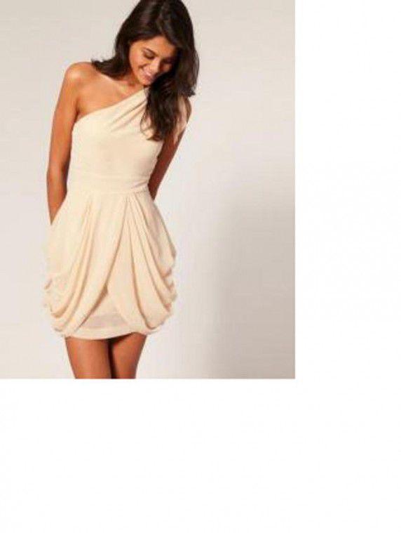 07b11d169e Suknie i sukienki asos kremowa cream nude studniówka wesele 36 mini