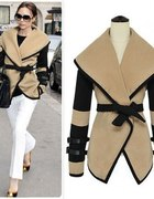 Nowy płaszcz ponczo styl Victoria Beckham rozm 36
